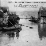 La crue de la Seine Route du Bas Cléon
