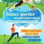séance sportive au parcours santé