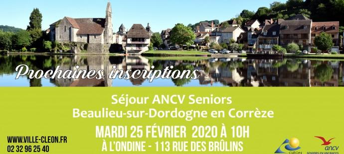 Sejour ANCV seniors ACTU SITE places disponibles