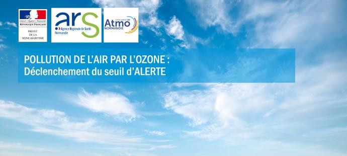 Pollution de l'air par l'ozone aout 2020 - seuil d'alerte