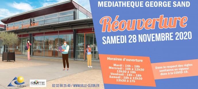 Réouverture Médiathèque ACTU 28 NOVEMBRE