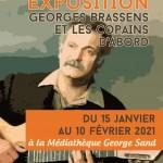 expo brassens - Médiathèque George Sand